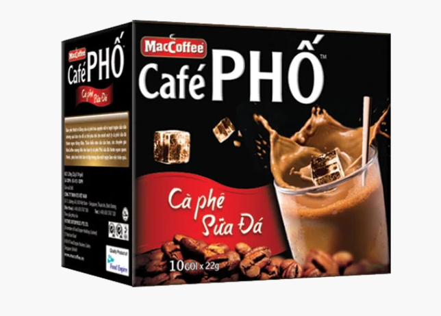 В'єтнамський розчинна кава MacCoffee Cafe PHO 3 в 1 (10 пакетиків по 22г)
