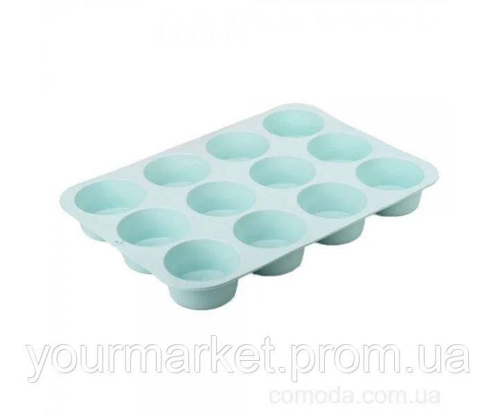 Форма силиконовая для кексов на 12 шт MysSilicone 29х20,5х3 см 41038
