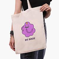 Эко сумка шоппер Принцесса пупырка Время Приключений (Adventur (9227-1578)  экосумка шопер 41*35 см, фото 1