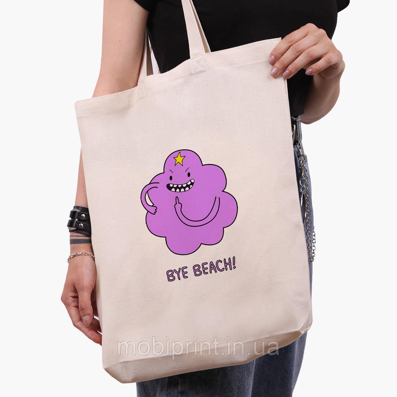 Эко сумка шоппер белая Принцесса пупырка Время Приключений  (9227-1578-1) экосумка шопер  41*39*8 см