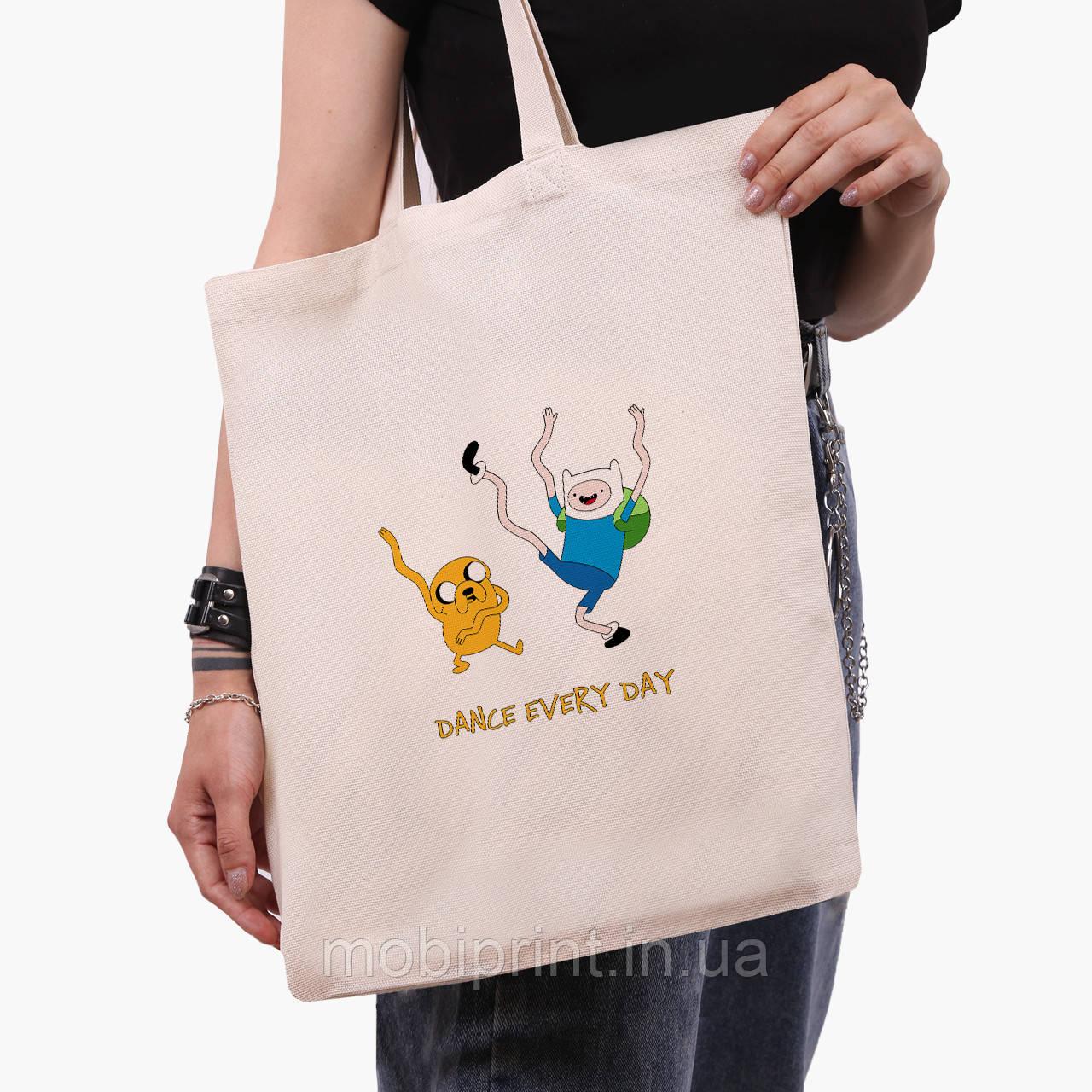 Еко сумка шоппер з принтом Фінн і Джейк пес (Adventure Time) (9227-1580)