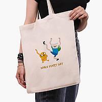 Еко сумка шоппер з принтом Фінн і Джейк пес (Adventure Time) (9227-1580), фото 1