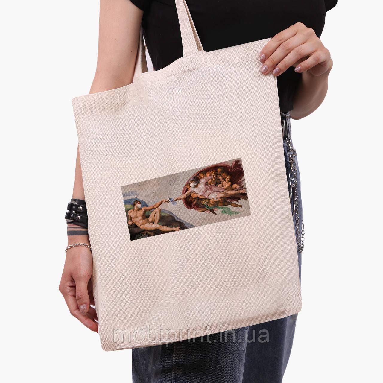 Эко сумка шоппер Божественное Прикосновение (Divine Touch) (9227-1414)  экосумка шопер 41*35 см