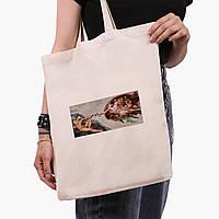 Эко сумка шоппер Божественное Прикосновение (Divine Touch) (9227-1414)  экосумка шопер 41*35 см, фото 1