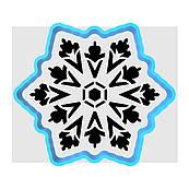 Сніжинка-2 вирубка з трафаретом 10,5*12 см (TR-1)