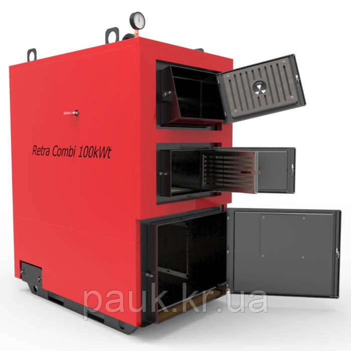 Котел твердотопливный 65 кВт РЕТРА-4МCombi, промышленный котел с факельной горелкой