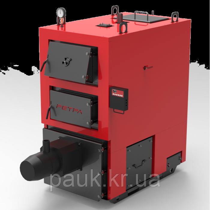 Котел промышленный на твердом топливе 150 кВт РЕТРА-4МCombi, с факельной горелкой