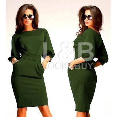 """Женское платье фонарик """"CAVALLI"""" зеленый"""