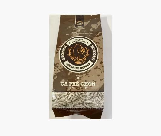 Вьетнамский натуральный Кофе в зернах Premium Kopi luwak Weasel Coffee Huong Mai Cafe зерновой 250g (Вьетнам)