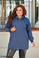 Облегченная джинсовая куртка без подклада с 48 по 58 размер, фото 2