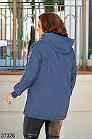 Облегченная джинсовая куртка без подклада с 48 по 58 размер, фото 3