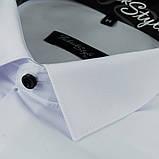 Сорочка чоловіча, приталена (Slim Fit), з довгим рукавом Fabrik Style біла Ч/Г 80% бавовна 20% поліестер XL(Р), фото 2