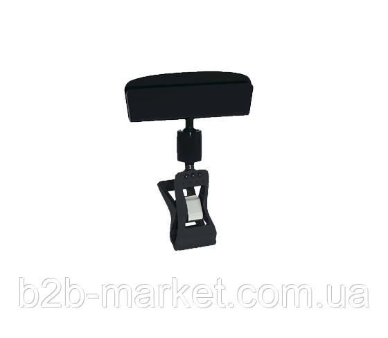 Цінникотримач 5 см на малій прищепці, колір Чорний