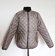 Куртка детская стеганная демисезонная 8-12 лет, кофейного цвета, фото 1