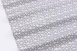 "Ткань бязь ""Цветочная полянка"" белая на сером, №2935а, фото 4"