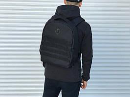 Молодежный городской рюкзак-антивор черный однотонный