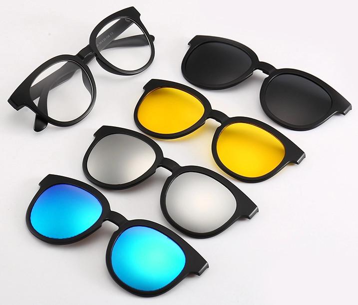 Очки солнцезащитные антибликовые Magic Vision 5 в 1 (0631) #S/O