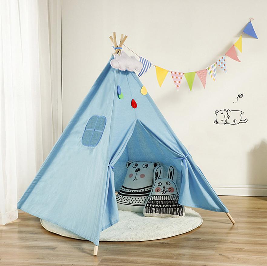 Детская палатка Tipi Вигвам 135 см (Голубой) #S/O