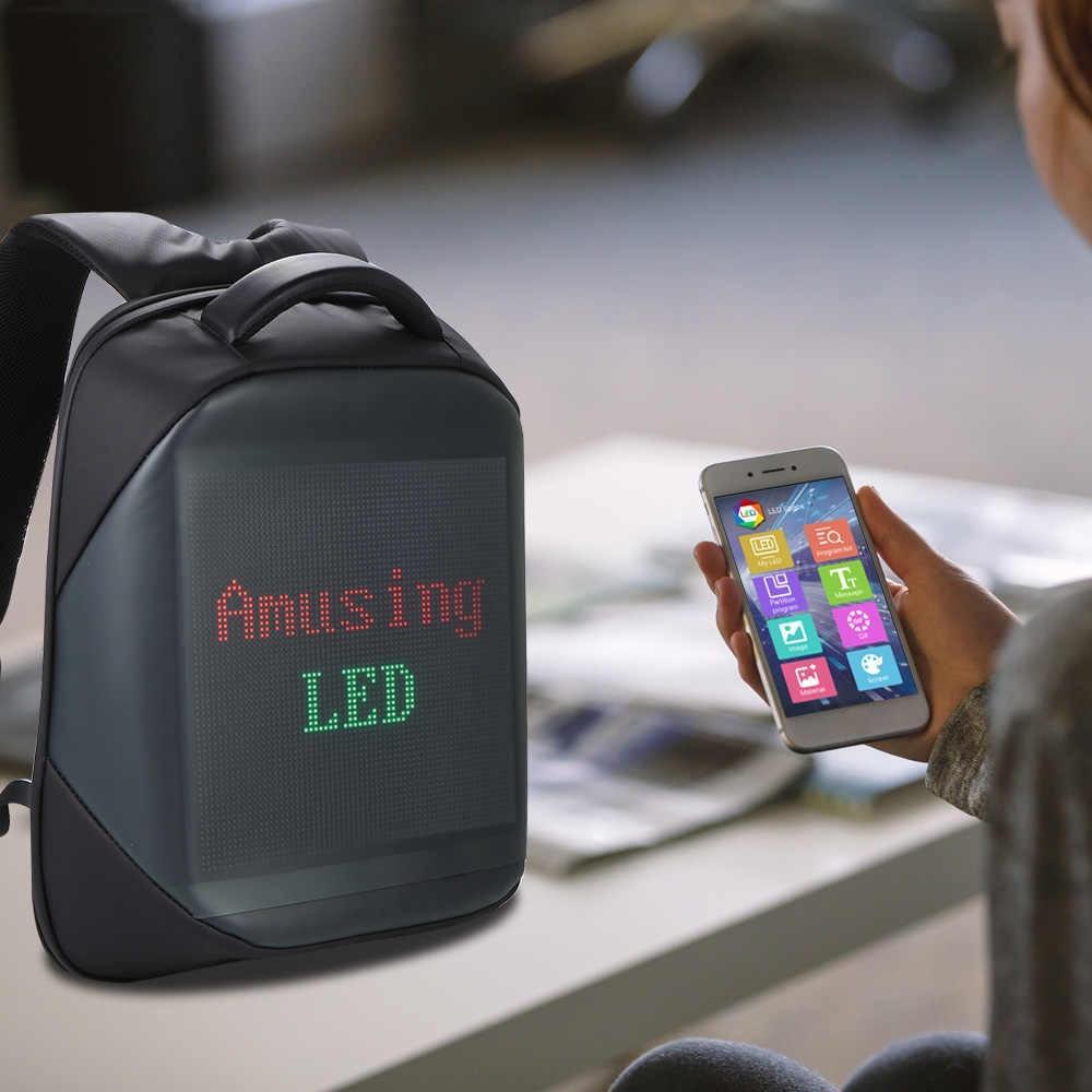 Дропшиппинг. Рюкзак антивор для ноутбука JAY Pro Водонепроницаемый с LED экраном Black