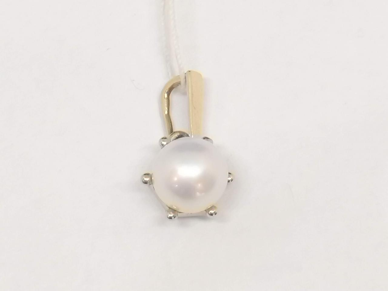 Золота підвіска з перлами. Артикул 3542435