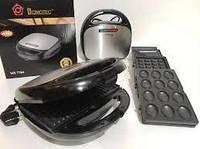 Горішниця, бутербродниця, вафельниця, гриль - тостер ,сендвичница DOMOTEC MS-7704 (4 в 1), фото 1