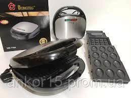 Горішниця, бутербродниця, вафельниця, гриль - тостер ,сендвичница DOMOTEC MS-7704 (4 в 1)