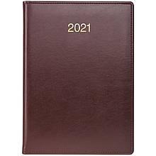 Ежедневник датированный 2021 BRUNNEN Стандарт Soft, бордовый