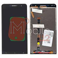 Экран (дисплей) Asus ZenFone 6 A600CG A601CG + тачскрин черный
