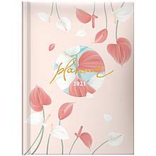 Ежедневник датированный 2021 BRUNNEN Стандарт Графо Pastel flowers