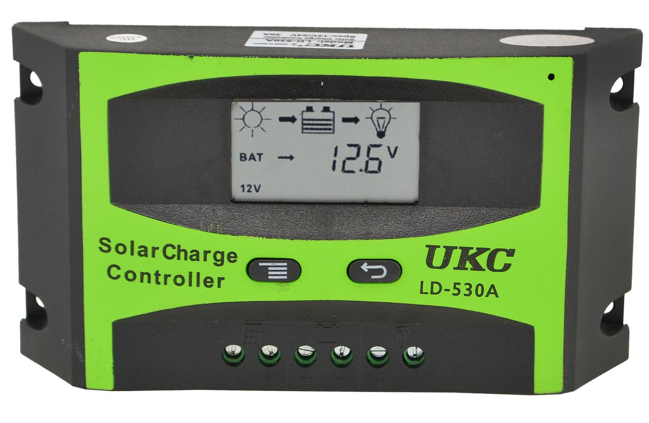 Контроллер для солнечной батареи UKC LD-530A 30A (2817) #S/O