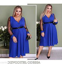 Стильное женское платье батал большие размеры 50 52 54 56 58 60
