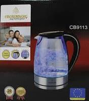 Скляний електричний чайник Crownberg CB 9113 1,7 л