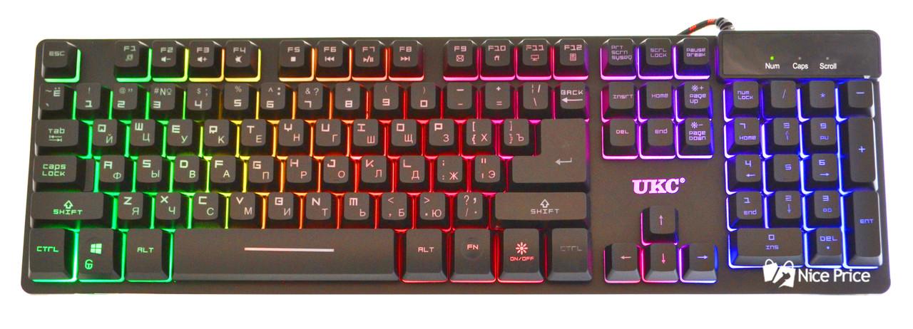 Клавиатура с цветной подсветкой UKC ZYG800 (3487) #S/O