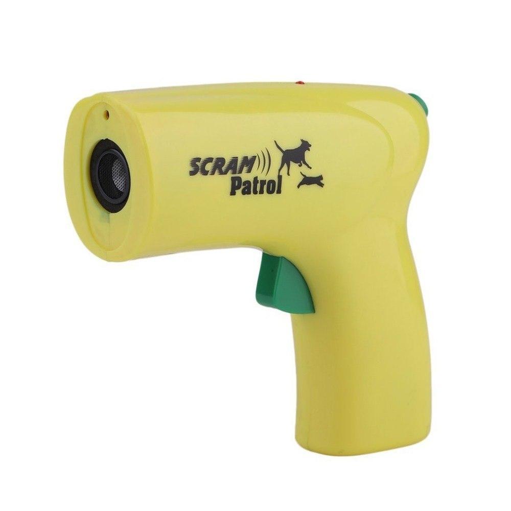 Ультразвуковой отпугиватель от собак с лазером Scram Patrol 0027 Yellow (2784) #S/O