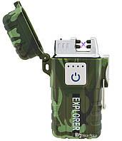 Зажигалка электроимпульсная JL317 Explorer Камуфляж (6863) #S/O, фото 1