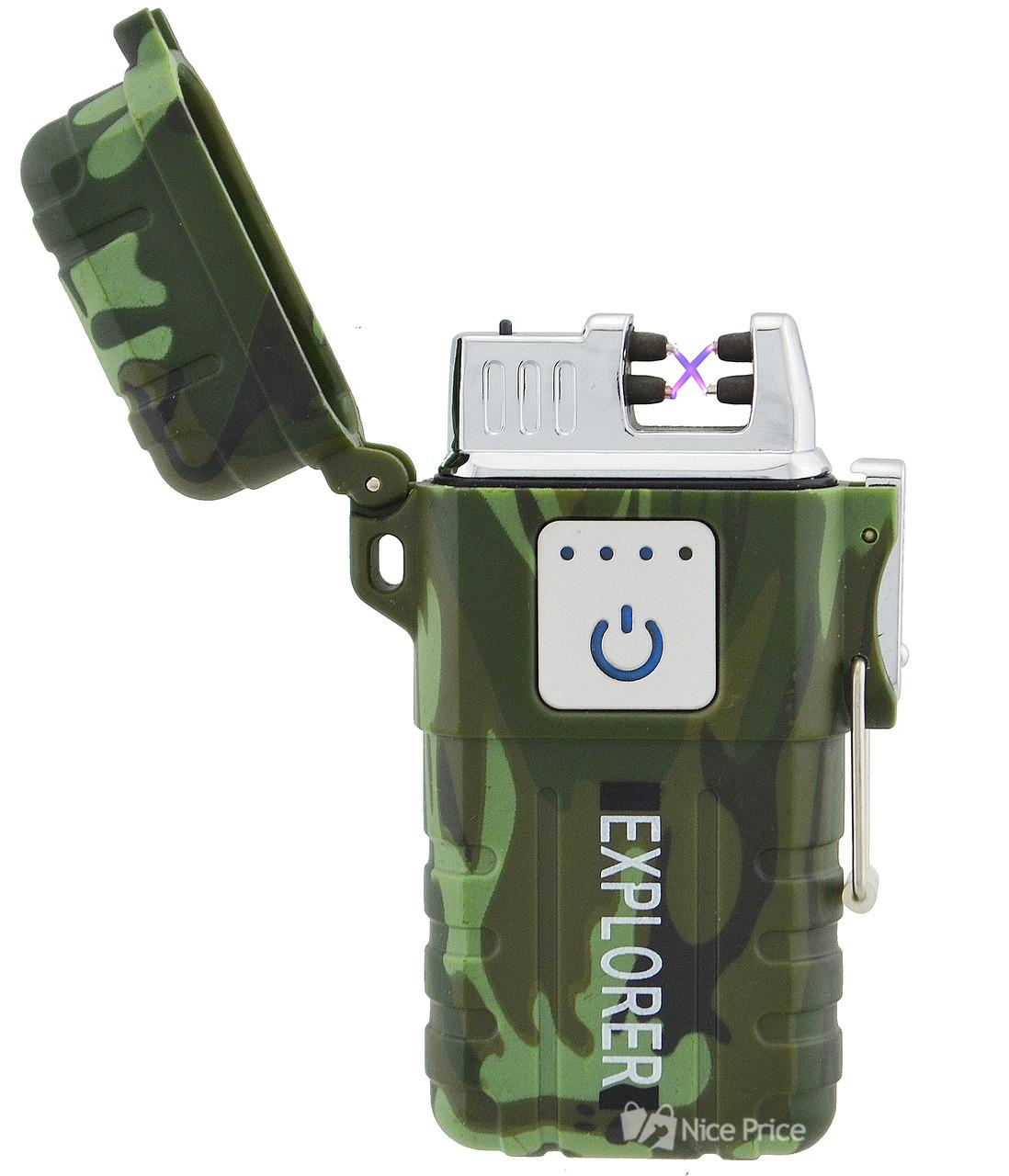 Зажигалка электроимпульсная JL317 Explorer Камуфляж (6863) #S/O