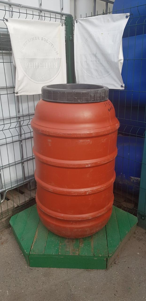 0238-30/1: С доставкой в Скадовск ✦ Бочка (220 л.) б/у пластиковая