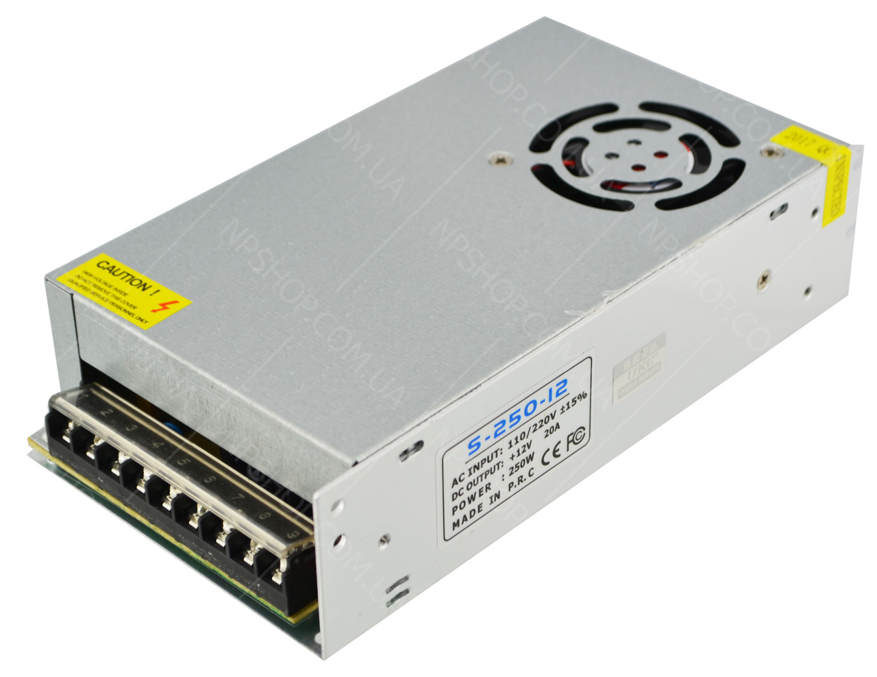 Блок питания UKC 12V 20A S-250-12 (металлический) (5084) #S/O