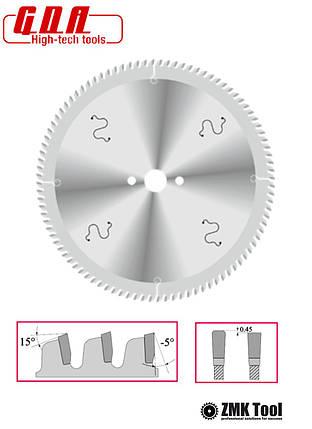 Пила для резки алюминия, пластика, акрила и ламинатов 216x30x3/2 z64 отрицательный угол -5°, фото 2