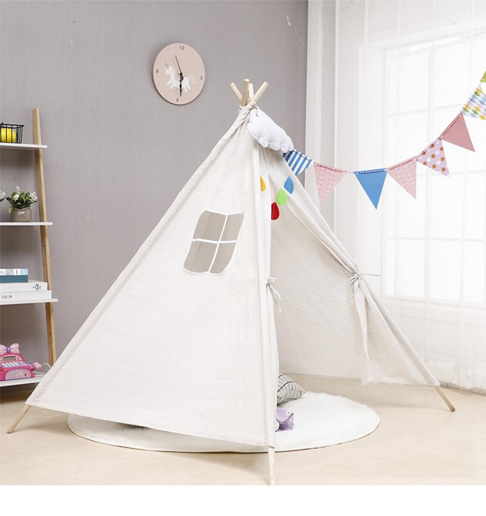 Детская палатка Tipi Вигвам 135 см (Белая) #S/O