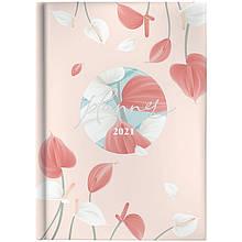 Ежедневник карманный датированный BRUNNEN 2021 Графо Pastel flowers