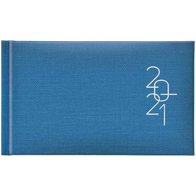 Еженедельник датированный карманный BRUNNEN 2021 Tirol, голубой