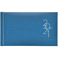 Еженедельник датированный карманный BRUNNEN 2021 Tirol, голубой, фото 1