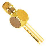 Караоке микрофон детский портативный беспроводной Bluetooth USB Золотой Gold Игрушка микрофоны для детей YS-63, фото 5