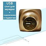 Караоке микрофон детский портативный беспроводной Bluetooth USB Золотой Gold Игрушка микрофоны для детей YS-63, фото 7