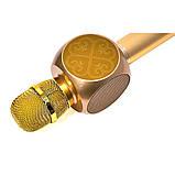 Караоке микрофон детский портативный беспроводной Bluetooth USB Золотой Gold Игрушка микрофоны для детей YS-63, фото 2