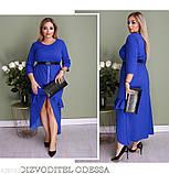 Стильно длинное женское платье батал большие размеры 50 52 54 56 58 60, фото 3