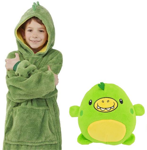 Детский худи-трансформер (толстовка) Huggle Pets (Дракончик) #S/O