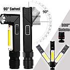 Налобный фонарь BORUIT XPG+COB  EBF0003 USB 800mAh Магнит, фото 3