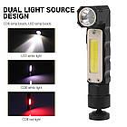 Налобный фонарь BORUIT XPG+COB  EBF0003 USB 800mAh Магнит, фото 4